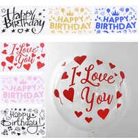 1 blatt Glücklich Geburtstag Aufkleber Scrapbooking Geburtstag Ballon Aufkleber Kinder Erwachsene Geburtstag Party Dekorationen Zubehör