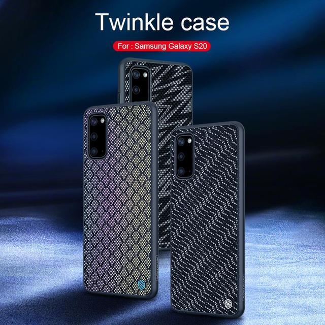 NILLKIN Twinkle etui na telefon do Samsung Galaxy S20/S20 Plus/S20 Ultra luksusowe elastyczne TPU PC powrót obudowa na telefon Fundas Coque
