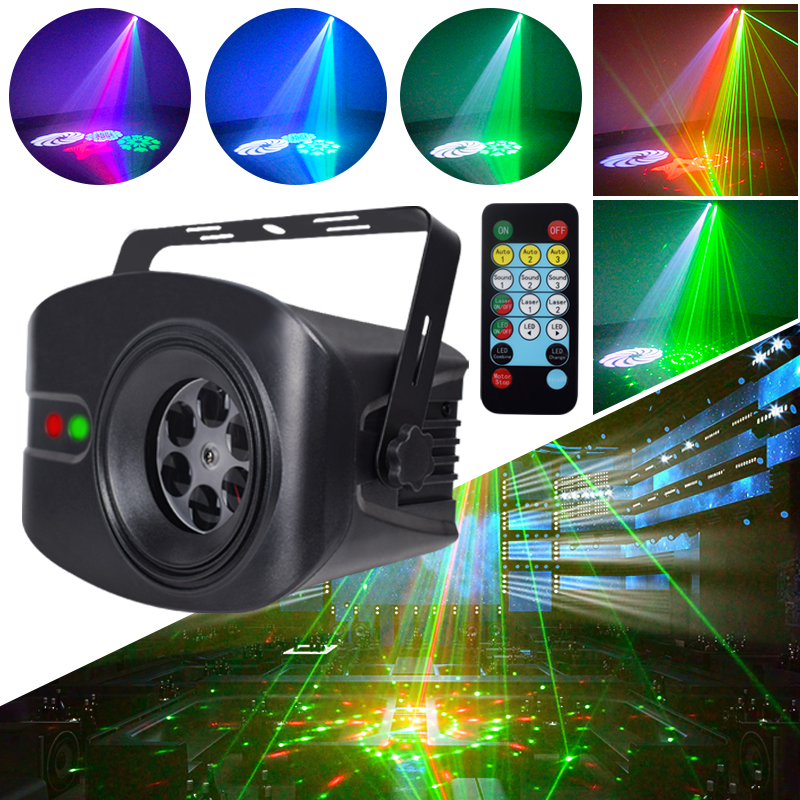 YSH DJ Light LED Party Light RGB Shine Laser Projector Disco Lights For Home Color Music Stage Lighting Effect For Decoration