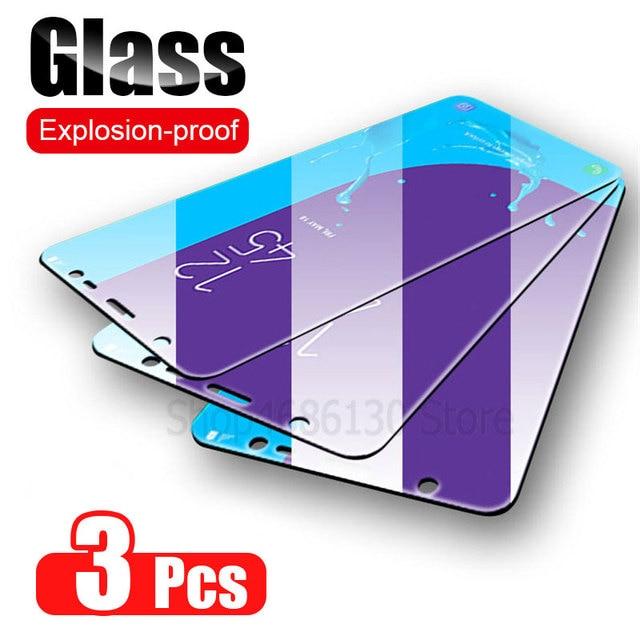 3Pcs מגן זכוכית לסמסונג גלקסי A7 A9 2018 A6 A8 J4 בתוספת מסך מגן זכוכית מחוסמת עבור Samsung a50 A51 A40 J6 J4