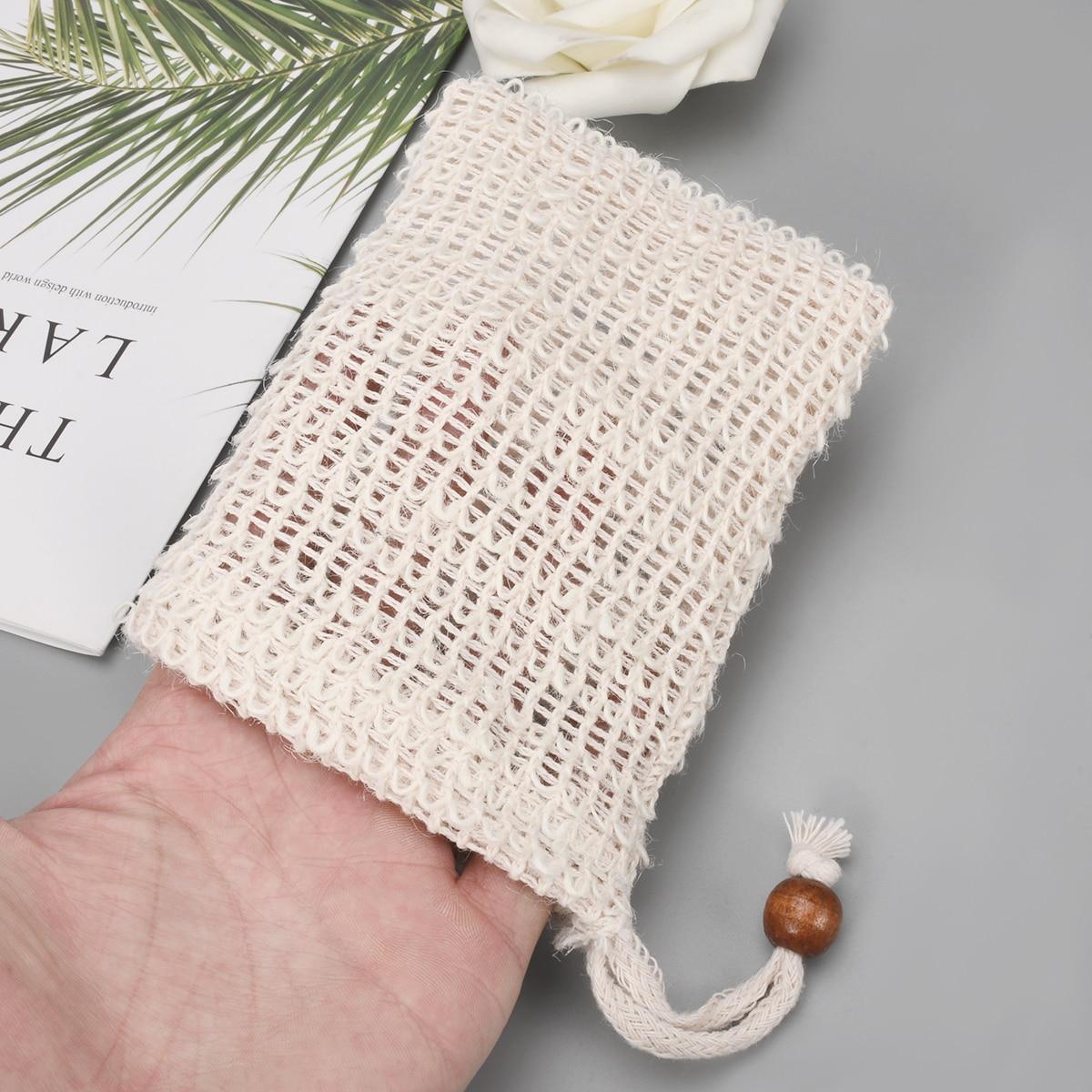 2 шт сизаль пеньковая сумка пенообразователь двухслойная сетка