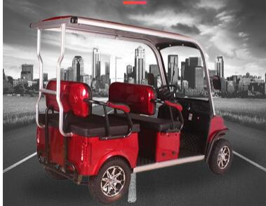 2020 New Design 4 Seater Adult Electric Golf Carts Motorized  Tandem Rickshaw Surrey Sightseeing Bicycle for Sale 4