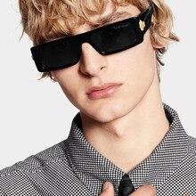 2020 Новый Европа и США подвижное модная узкая рамка солнцезащитные очки с квадратными линзами с модные солнечные очки с подвеской модели