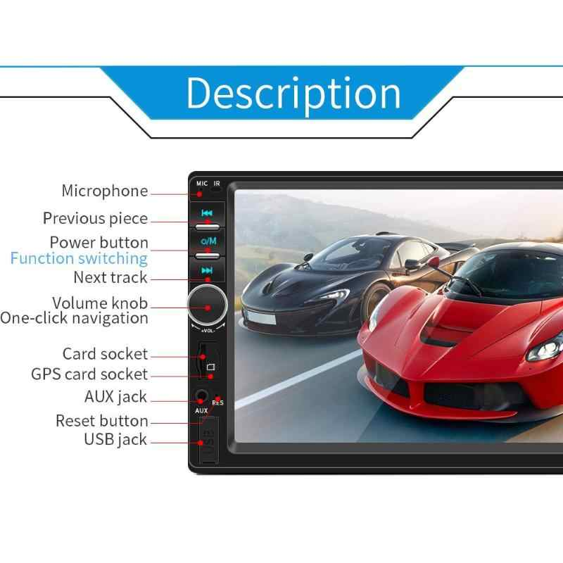 SWM 7018B Dubbele 2 DIN Auto Stereo Bluetooth AUX USB TF FM Radio Head Unit 7 Inch Touch Screen Zwart android Apple Universal