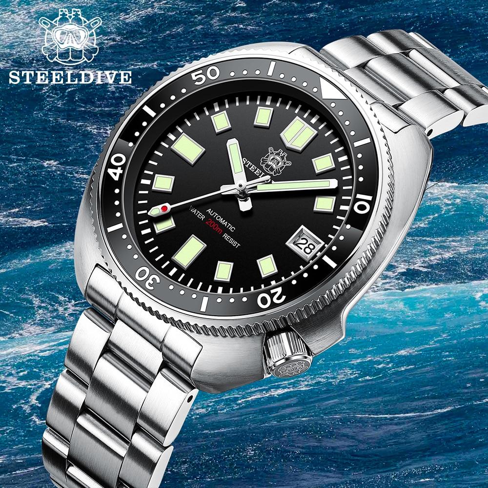 SD1970 Steeldive Brand 44MM Men NH35 Dive Watch with Ceramic Bezel 4