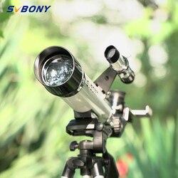 Telescopio astronómico Monocular SVBONY SV25 60/420mm + trípode + localizador óptico para reloj viajes Luna pájaro para niños y estudiantes
