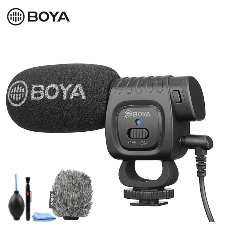 BOYA BY-BM3011 On Camera Record Microphone For Canon Sony Nikon DSLR Camera Smartphone 3.5MM Jack Cold Shoe Youtobe Vlog Mic