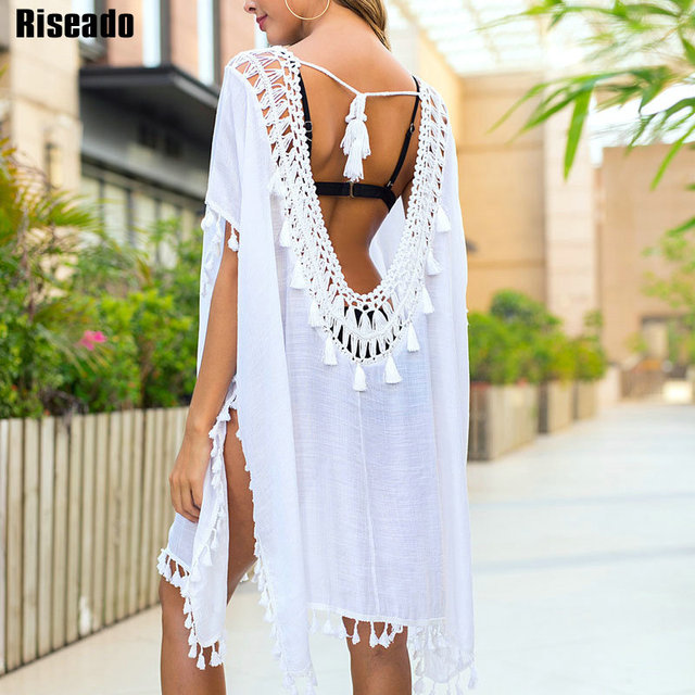 New Tassel Beach Dress Sexy Hollow Out Cover Ups