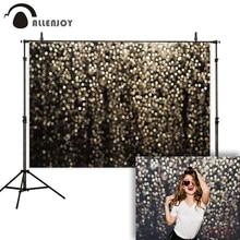 Allenjoy fotografia sfondo nero glitter oro bokeh lucido foto sfondo di studio partito selfie da sposa photophone photocall