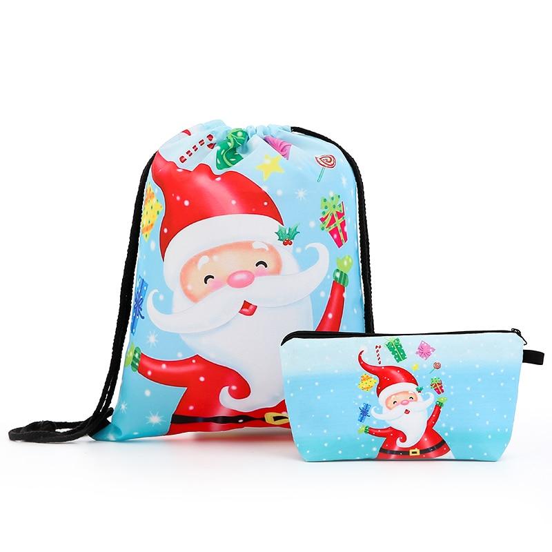 Drawstring Backpack Suit Drawstring Bags Fashion Printing  Men Casual Bags Women's Shoulder Bag Cosmetic Shopping Christmas New