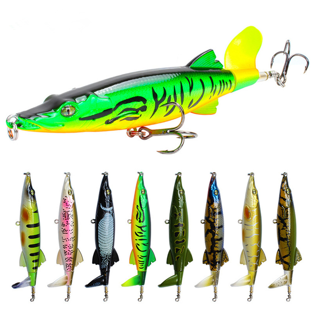 Olta Spinners Minnow Rotating Popper Fishing Lures Crankbaits Wobbler Isca Artificial Bait for Carp Fishing Topwater Pesca Peche