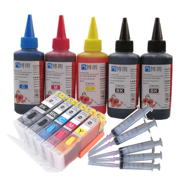 Voor Canon PGI470 TS5040 TS6040 Ts 5040 Ts 6040 Navulbare Inkt Cartridge Pixma Printer 5 Kleur Inkt Cartridge Arc Chip volledige Inkt