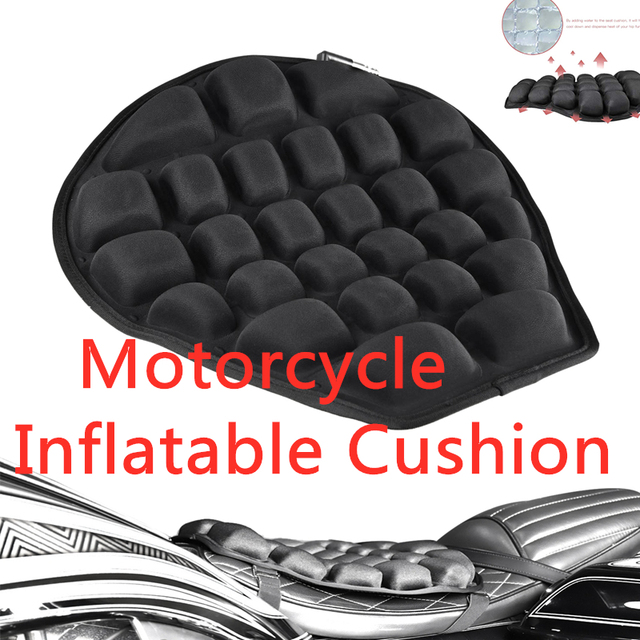 Motorcycle Boost Air Seat Cushion Roll Seat Cushion TPU Water Fillable Seat Cushion for Cruiser Touring Saddles