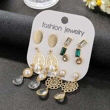 ethnic boho water drop design hollow golden leaf flower pendant dangle earrings for women fashion simulated pearl drop earrings two tone hollow face design drop earrings