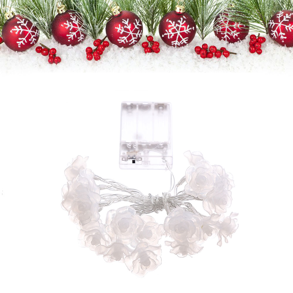 LED Rose Light String Christmas Wedding Decoration Holiday Lighting 2.2M
