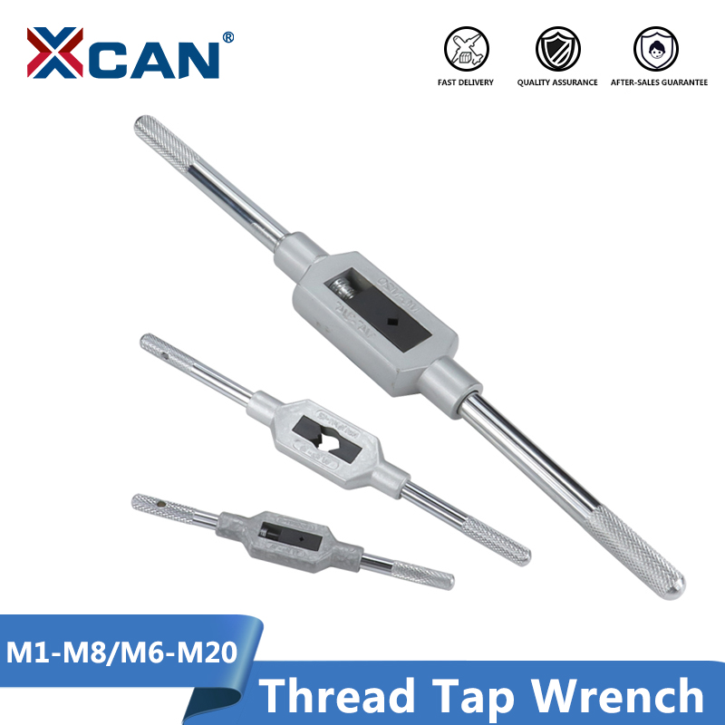 XCAN Adjustable Hand Tap Wrench M1-M8 M6-M20 Thread Screw Tap Drill Threading Tools