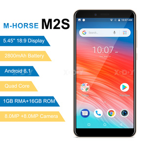Image 4 - M HORSE Mobile Phone MTK6580 Quad Core Android 8.1 1GB RAM 16GB ROM 3G WCDMA 8.0MP 2800mAh Dual SIM Smartphone 5.45 Inch Celular
