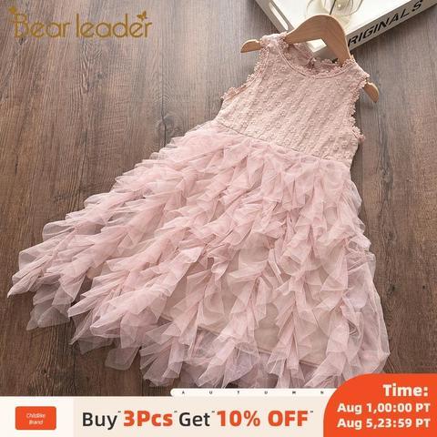 lider urso meninas vestido de festa novo garoto verao fantasia vestidos de princesa bonito patchwork