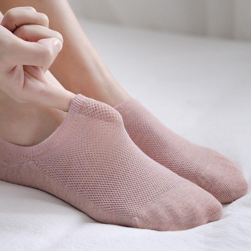 Women's Socks 2020 New Fashion Summer Women Socks Short Mesh Cotton High Quality Women's Boat Sock Slippers Women Ankle Socks