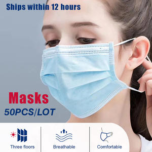 Disposable Mask Mouth-Muffle-Face-Masks Mouth-Cover Anti-Dust Breathable 3-Layer Men
