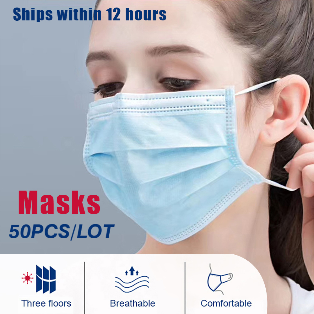 Anti-Pollution 3 Layer Disposable Mask Mouth-muffle Face Masks Men Women Anti Dust Fog Face Mouth Masks Breathable Mouth Cover