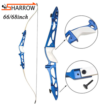 1set 66/68inch Right Hand Bow 12-40lbs Recurve Alloy Riser Takedown Bows for Hunting Shooting Training Archery Competition