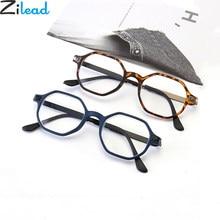 Zilead anti luz azul óculos de leitura polígono prebyopia óculos para homens mulheres hyperopia óculos de proteção unisex