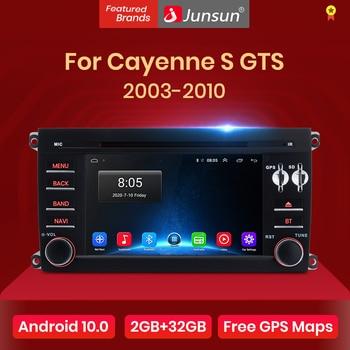 Junsun Android 10,0 Auto Radio Multimedia Player navegación GPS para Porsche Cayenne GTS 2003-2010 2 din Android Auto DVD DSP