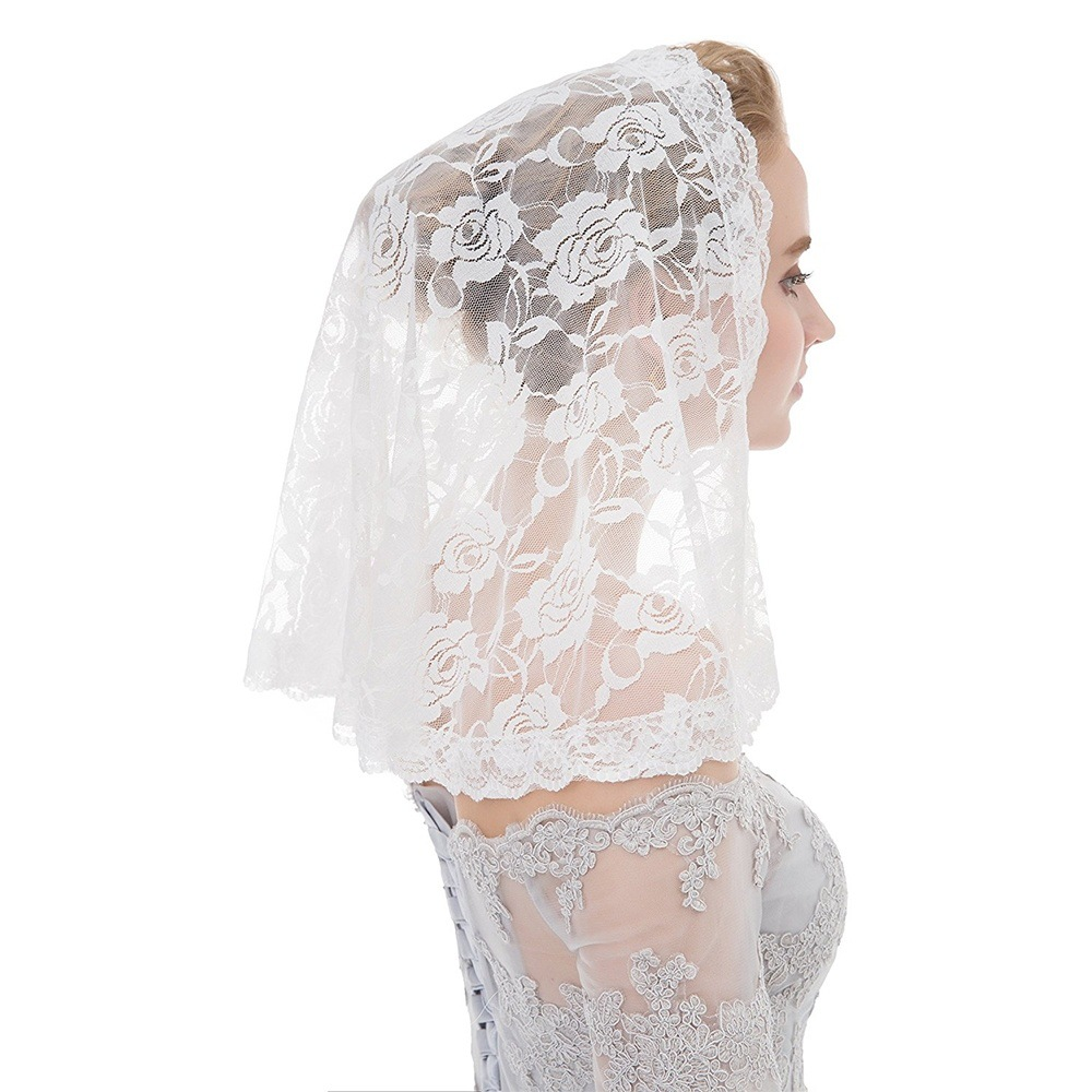 2020 New Wedding Bride Lace Women Headscarf Muslim Headdress Handmade Shawl Hijab Femme Musulman Foulard Turban Niqab For Lady