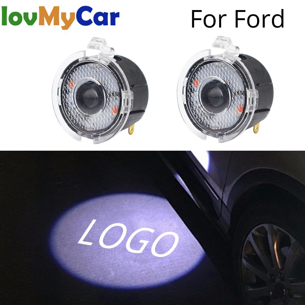 2X Welcome Logo Light Car Led For Ford Rear View Mirror Laser Projector LED Photo Logo Lamp Car Door Auto Lamp Light Dc 12V