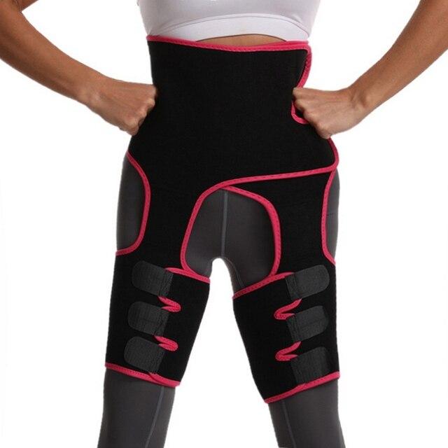 Neoprene Sweat Body Shaper Legs Shaper Slimming Control Fat Shapewear Women's Support Slimmer Belt Legs Reduce Wraps