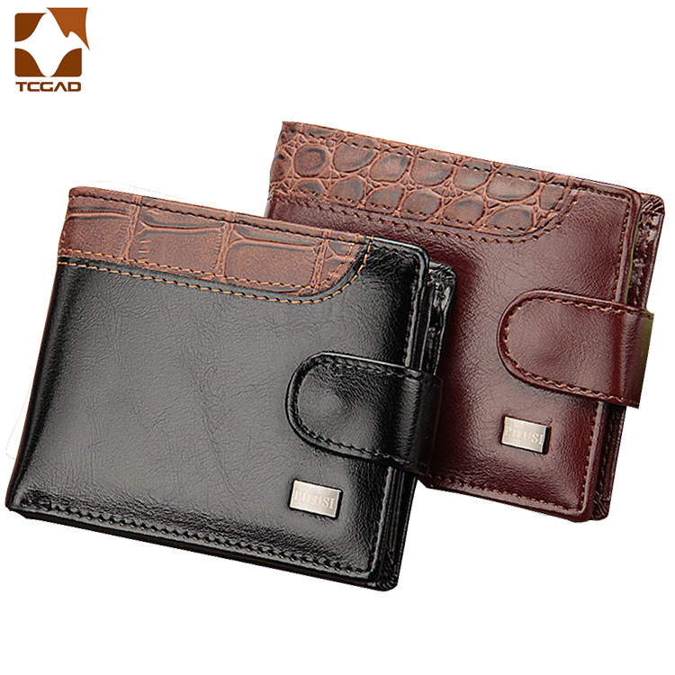 Wallet Men's Clutch Bag Men Wallets Purse Portefeuille Homme Patchwork Leather Brand Men's Wallet Carteira Masculina Money Bag