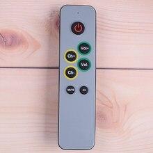 Aprendizagem de controle remoto para tv stb dvb receptor dvd, 7 botões grandes controlador duplicado código infravermelho