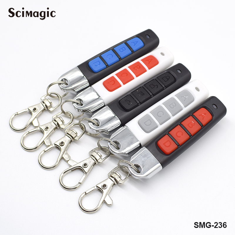 433MHz Remote Control Garage Gate Door Opener Remote Control Duplicator Clone Cloning Code  Fixed Code Key Fob Barrier Remote