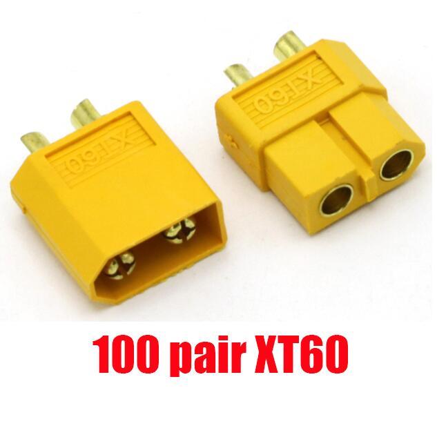100 пар, высокое качество, XT60 XT-60 XT 60 XT30 XT90, штепсельная вилка, штепсельная Вилка для RC Lipo батареи,, Прямая поставка - Цвет: 100 pair XT60