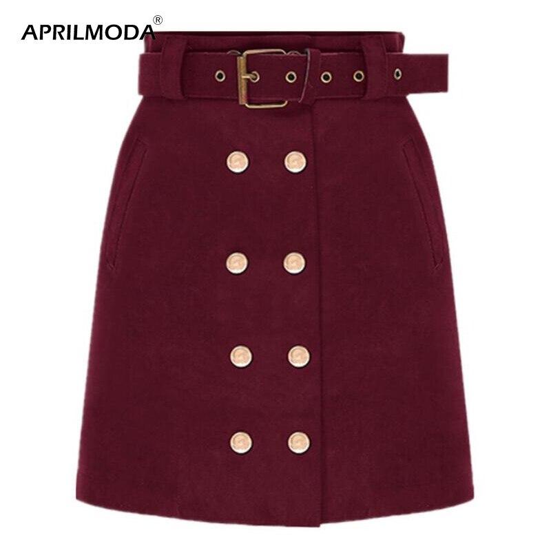 Облегающие замшевые мини-юбки, базовая облегающая юбка-карандаш, двубортная юбка-карандаш с завышенной талией, женская повседневная юбка с