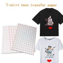 T-Shirt Transfer-Paper A4 Black Clothing Light Inkjet Cotton Used-For