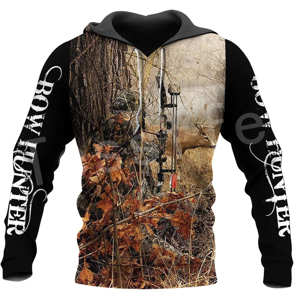 Tessffel Animal Hunting Deer Reaper Bow Hunter Camo NewFashion Tracksuit Casual 3DPrint Zipper/Hoodies/Sweatshirts/Jacket A-6