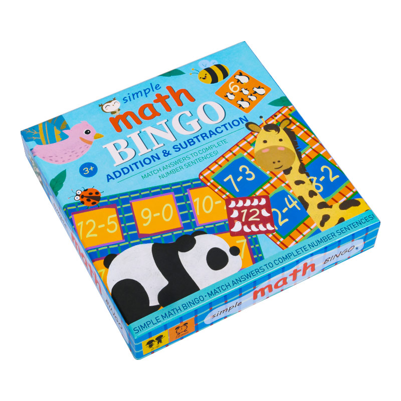 Simple Math bingo game learning education toys for children addition & subtraction math toys memorie games kids Educational toys 1