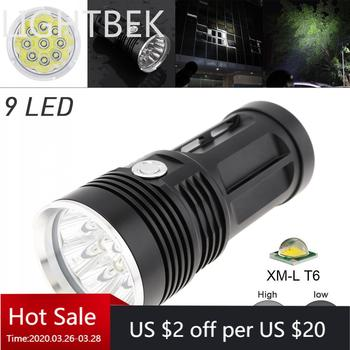 Waterproof Black  LED Flashlight 2700LM  9x XML T6 LED 3 Mode Outdoor Flash Lamp Torch for Hunting Camping sitemap 19 xml