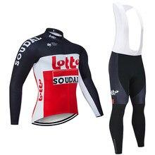 2020 takım loto SOUDAL bisiklet forması 20D bisiklet pantolon takım elbise Ropa Ciclismo erkekler kış termal polar pro bisiklet Maillotclothing