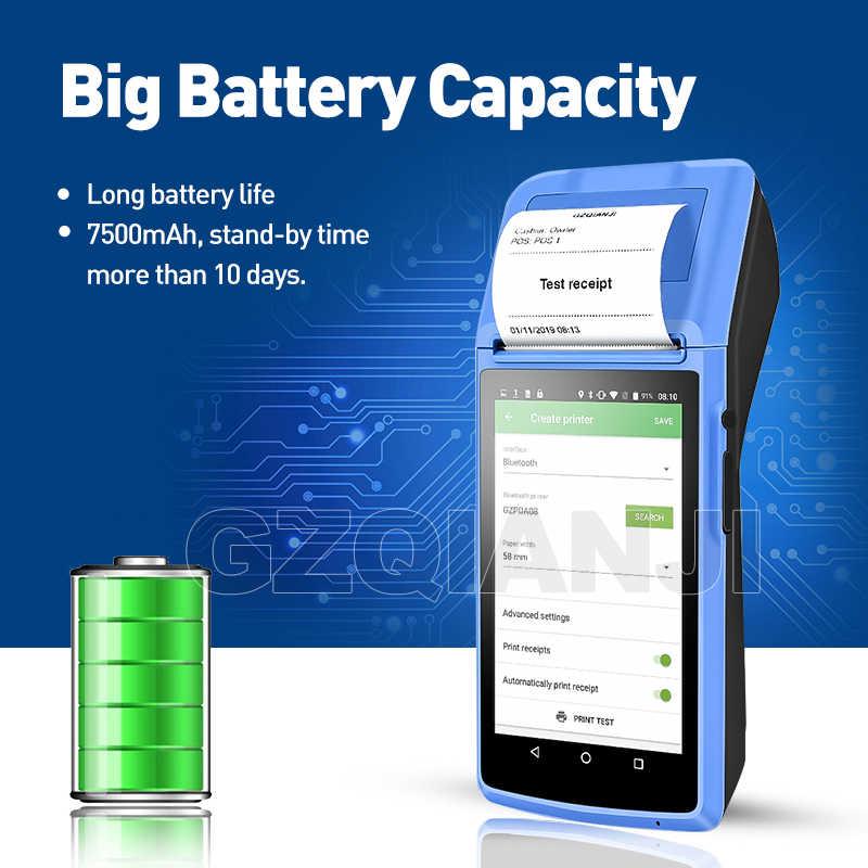 POS Android 6.0 PDAมือถือPOS Terminal PDA 3G NFC WiFiกล้องเครื่องพิมพ์ใบเสร็จ 58 มม.สำหรับโทรศัพท์มือถือORDER Market
