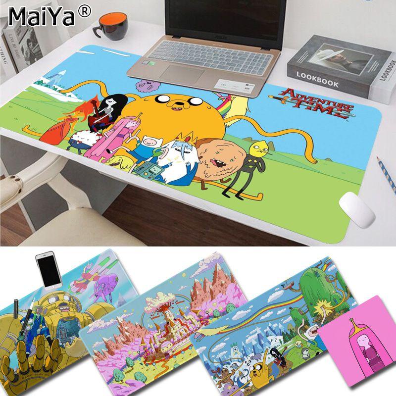 Maiya Hot Sales Anime Adventure Time Laptop Gaming Mice Mousepad Free Shipping Large Mouse Pad Keyboards Mat