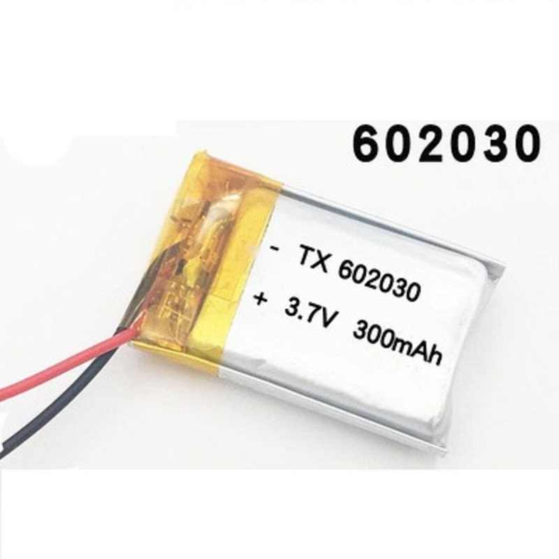 300mAh 3.7V 602030 lithium polymer Rechargeable battery For Bluetooth Speaker MP3 MP4 Smart Watch wireless card Selfie stick