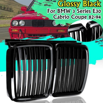 Glossy Matt Black Front Kidney Grill Grille For BMW 3 Series E30 for Cabrio Coupe 1982-1994 51131884350,51131916504,51131945877P image