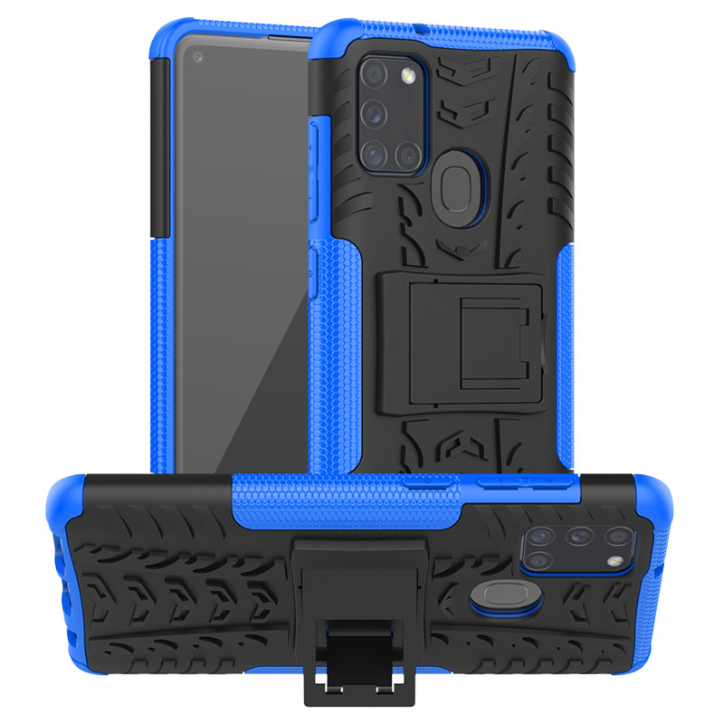For Samsung <font><b>Galaxy</b></font> S20 Ultra <font><b>S10E</b></font> S10 Note 10 Plus A10 A20 A50 A70 S A21S A31 A41 A51 A71 5G M31 Rugged Armor With Holder Case image