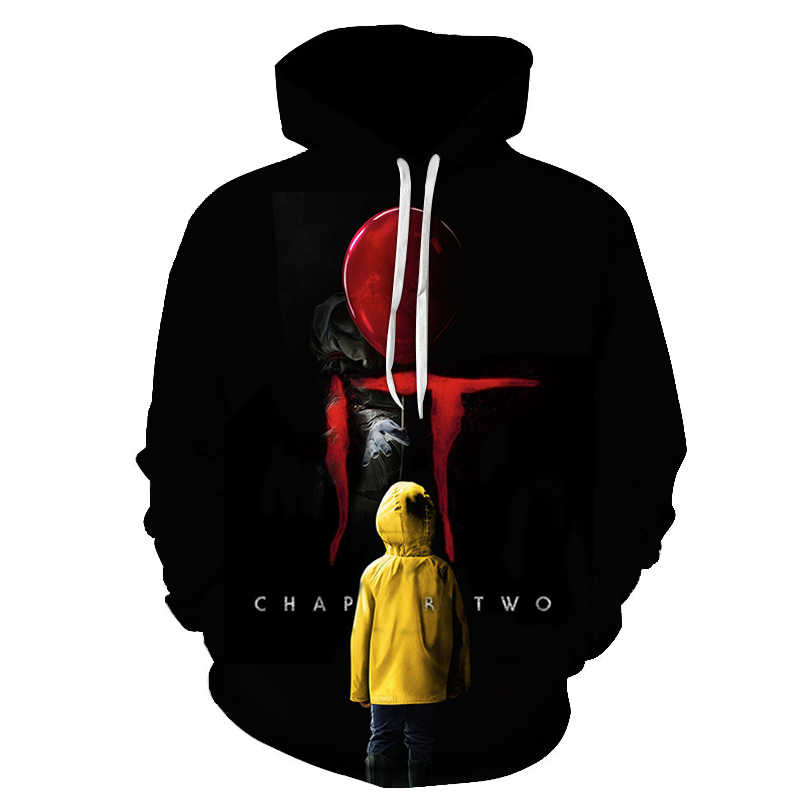 New Horror Movie It Clown Hoodies Design Printing 3D Hoodies Sweatshirt Men Women stranger things Harajuku Unisex Outerwear