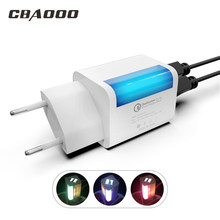 2A EU USB Charger Illuminated charger Fast Charging Multi Plug Mobile Phone Charger for iPhone Samsung Xiaomi(China)
