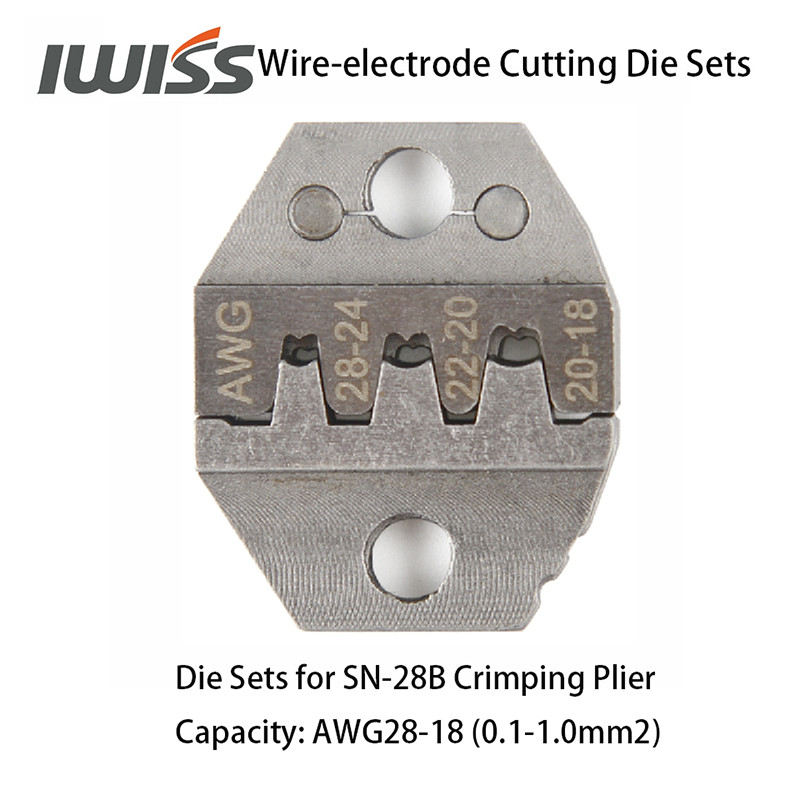 Image 3 - IWISS Wire electrode Cutting Die Sets for SN 2549/SN 48B/SN 28B Ratchet Crimping Plier Hand Crimper Toolsdie settool crimpcrimping tool crimping -