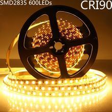 DIY LED U-Home High CRI RA 90+ LED Strip Light SMD 2835 DC12V 5M 600leds Nonwaterproof Warm White 3000K LED Lighting for Holiday